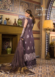 AJF09 - Unstitched - Farozaan Collection by Asim Jofa 2020 - Memsaab Online
