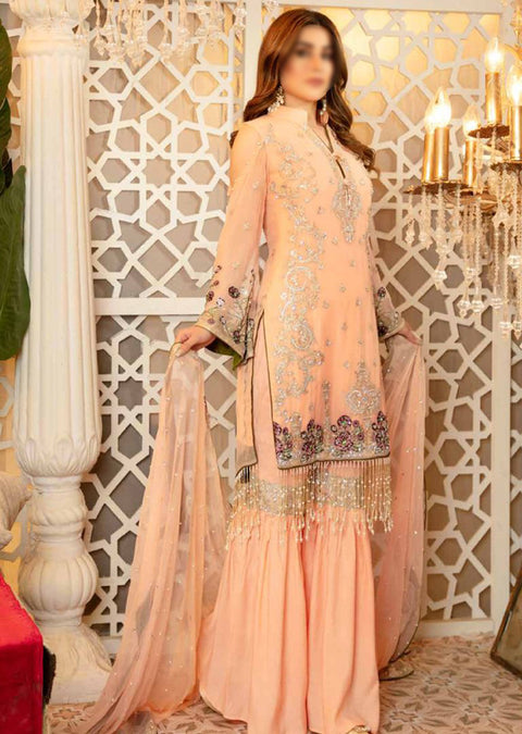 A107 - Readymade - Isleen Luxury Embroidered Collection 2021 - Memsaab Online