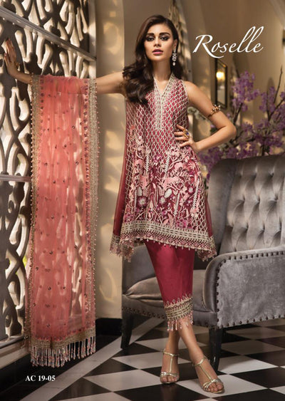 AC1905 - Anaya by Kiran Chaudhry La Belle Soiree Luxury Collection 2019 - Unstitched - Pakistani Designer wear - Memsaab Online