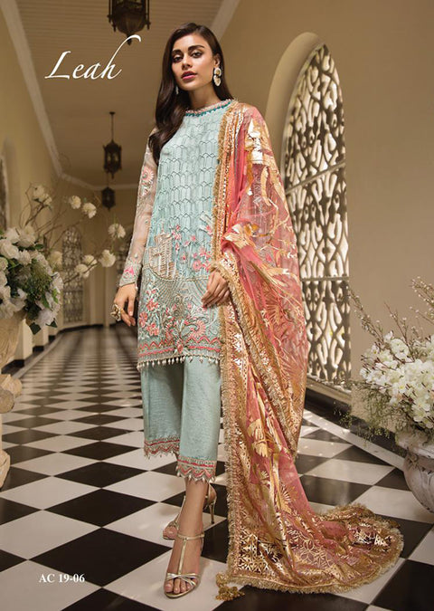 AC1906 - Anaya by Kiran Chaudhry La Belle Soiree Luxury Collection 2019 - Unstitched - Pakistani Designer wear - Memsaab Online