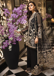 AC1908 - Anaya by Kiran Chaudhry La Belle Soiree Luxury Collection 2019 - Unstitched - Pakistani Designer wear - Memsaab Online