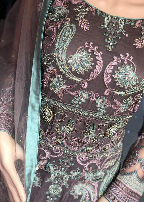 AD297 Readymade Mauve Suit by Sofia Shaan - Memsaab Online