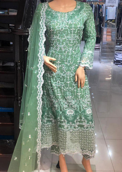 AD298 Readymade Green Dress by Sofia Shaan - Memsaab Online