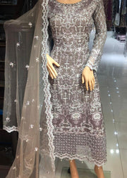 AD298 Readymade Mauve Dress by Sofia Shaan - Memsaab Online