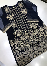 AGH06 Agha Noor Chiffon Embroidered Kurti - Memsaab Online