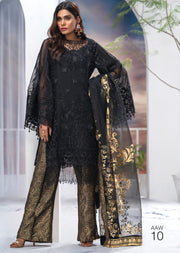AA-10 - Night Rose - Nigaar Unstitched Collection by Akbar Aslam - Memsaab Online