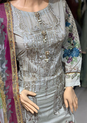 AL 114 Readymade Embroidered Lawn Suit by Allys - Memsaab Online