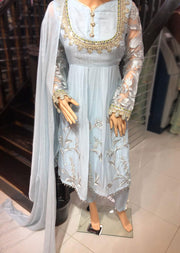 AL 3046 Readymade Chiffon Dress Suit by Allys - Memsaab Online