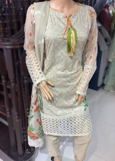 AL 8239 Readymade Embroidered Chicken Suit by Allys - Memsaab Online