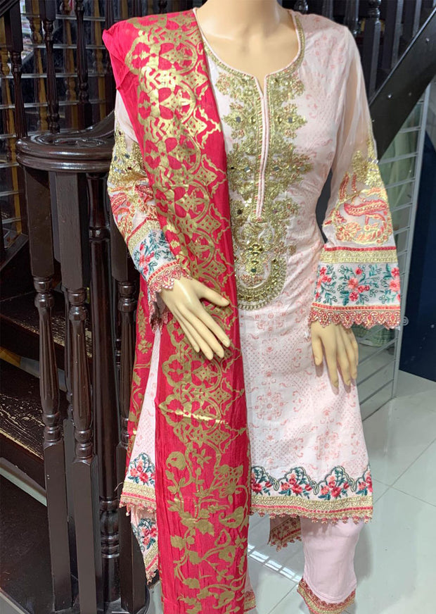 AL 8261 Readymade Embroidered Lawn Dress Suit by Allys - Memsaab Online