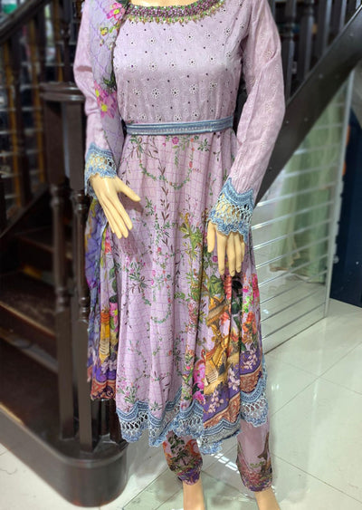 AL 88 Readymade Embroidered Chicken Suit by Allys - Memsaab Online