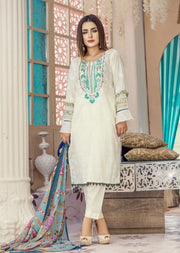 AMT1401 - Readymade - Embroidered Lawn Suit - Pakistani Designer by Memsaab - Memsaab Online