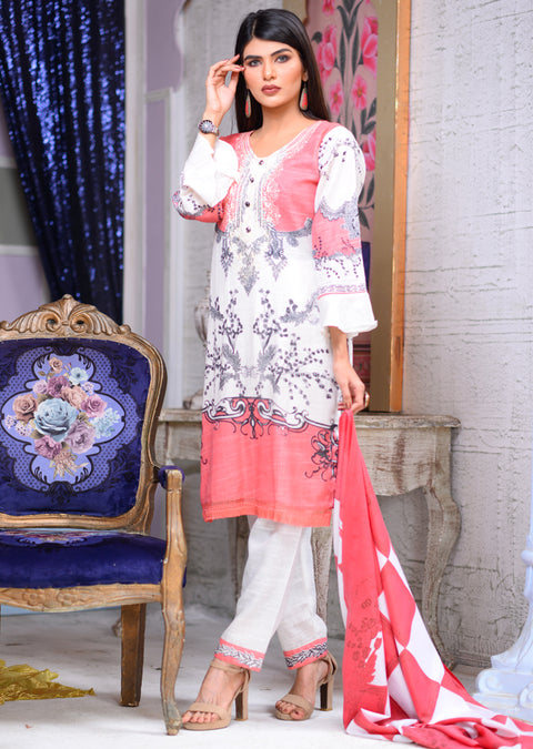 Peach - Readymade Winter Khadder - Pakistani Designer - Memsaab Online