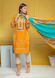 AMT22004 - Readymade Orange Winter Linen suit - Memsaab Online