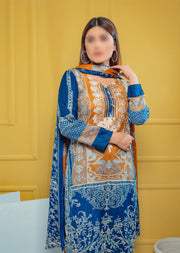 AMT23003 Readymade Winter Linen Suit - Memsaab Online