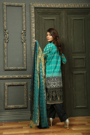 AMT702 Green - Readymade Pakistani Lawn Suit - Diamond Heritage - Lawn 2019 Vol 1 - Memsaab Online