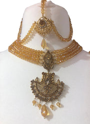 Arina - Necklace Set Gold - Memsaab Online