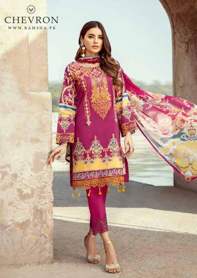 Unstitched Ramsha Chevron Lawn Collection Vol 02 '2020 - Memsaab Online