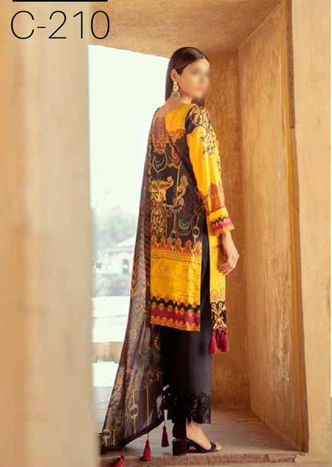 C210R Readymade Ramsha Chevron Lawn Collection Vol 02 - Memsaab Online
