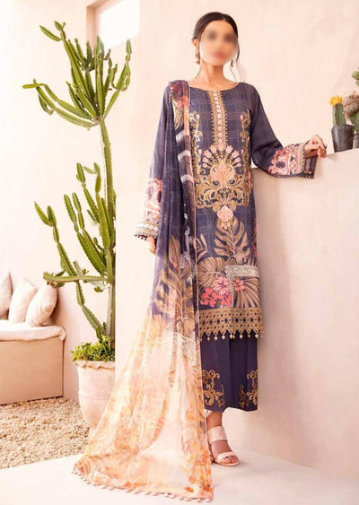 C-403R Readymade Chevron Luxury Lawn Collection Vol 4 - Memsaab Online