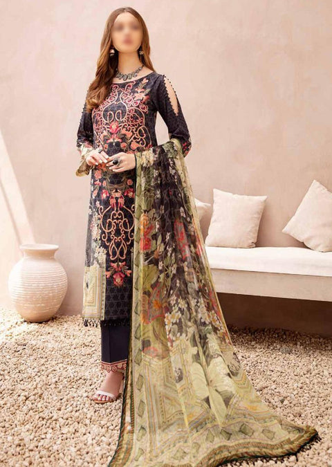 C-405R Readymade Chevron Luxury Lawn Collection Vol 4 - Memsaab Online