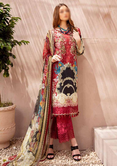 C-406 Unstitched Chevron Luxury Lawn Collection Vol 4 - Memsaab Online