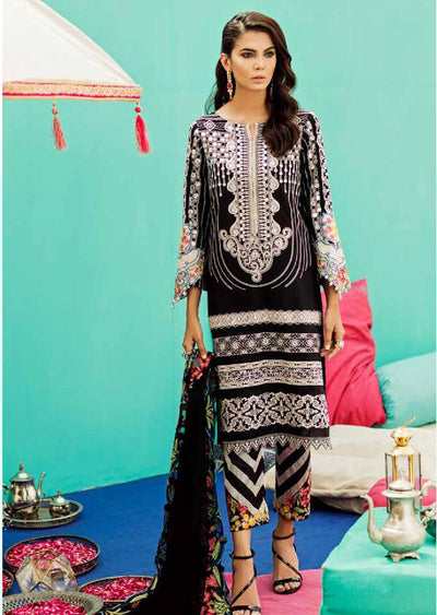 ED35 - Dark Night - Charizma - Unstitched - Eid Collection 2019 Pakistani Designerwear - Memsaab Online