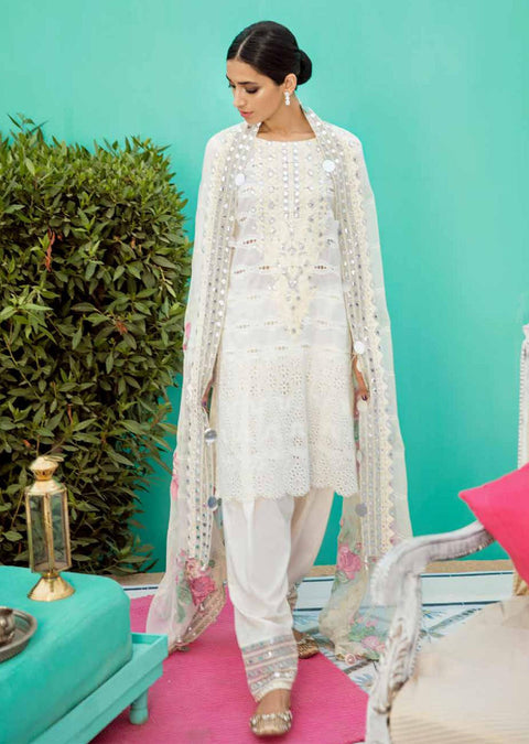 ED42 - White Dream - Charizma - Unstitched - Eid Collection 2019 Pakistani Designerwear - Memsaab Online