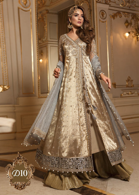 D10 Maria B Mbroidered Wedding Collection 18