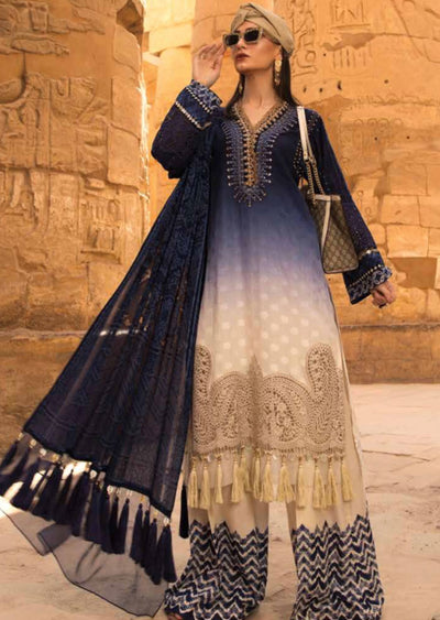 D-2005 A Unstitched Maria B Inspired Lawn Suit - Memsaab Online