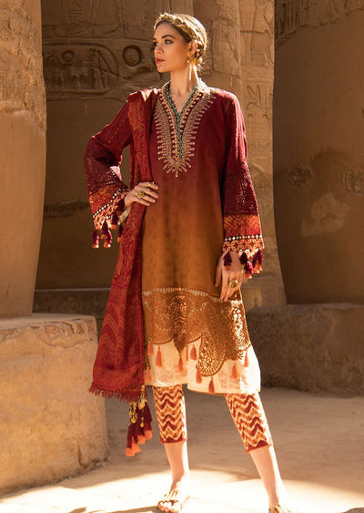 D-2005 B Unstitched Maria B Inspired Lawn Suit - Memsaab Online