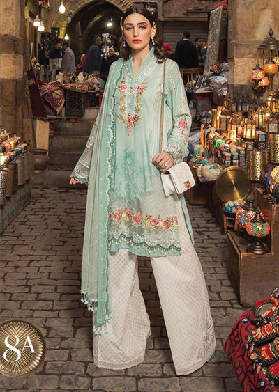 D-2008 A Unstitched Maria B Inspired Lawn Suit - Memsaab Online