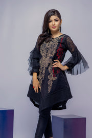 D3 - Qiraat - Black - Eternal by Memsaab - Ready to Wear Pakistani Designer Suit with handwork - Memsaab Online