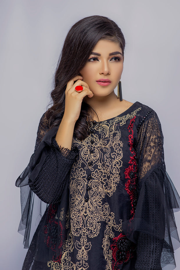 Qiraat - Black - Eternal by Memsaab - Ready to Wear Pakistani Designer Suit with handwork - Memsaab Online