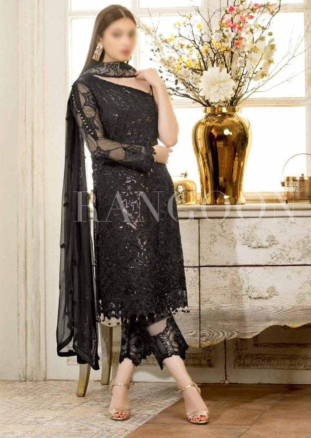 D401- Ramsha Rangoon - Unstitched Chiffon Collection 2019 - Pakistani Designerwear - Memsaab Online