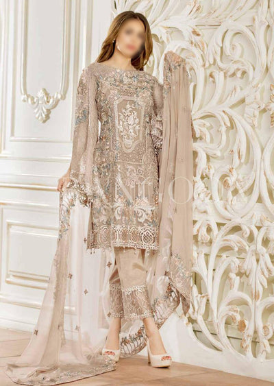 D-402 Ramsha Rangoon - Readymade Chiffon Collection 2019 - Pakistani Designerwear - Memsaab Online