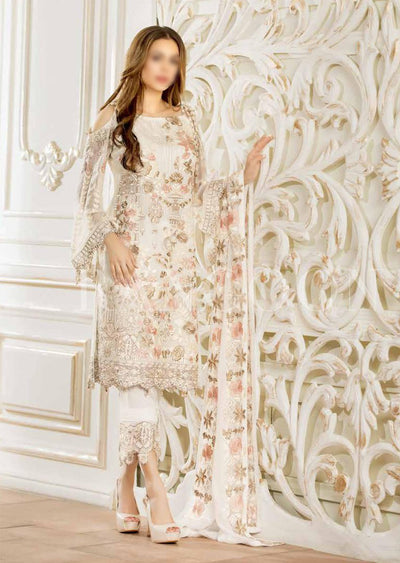 D404 Ramsha Rangoon - Readymade Chiffon Collection 2019 - Pakistani Designerwear - Memsaab Online