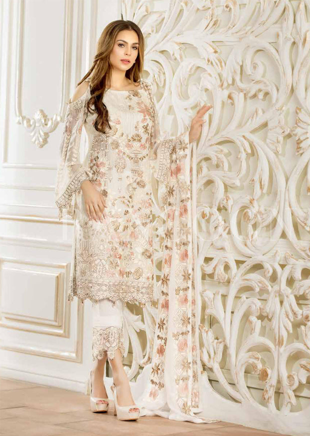 Ramsha Rangoon - Unstitched Chiffon Collection 2019 - Pakistani Designerwear - Memsaab Online