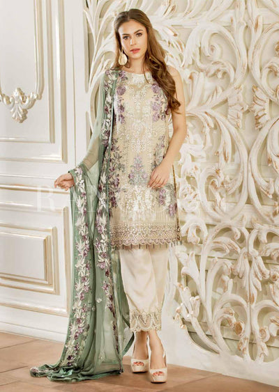 D406- Ramsha Rangoon - Readymade Chiffon Collection 2019 - Pakistani Designerwear - Memsaab Online