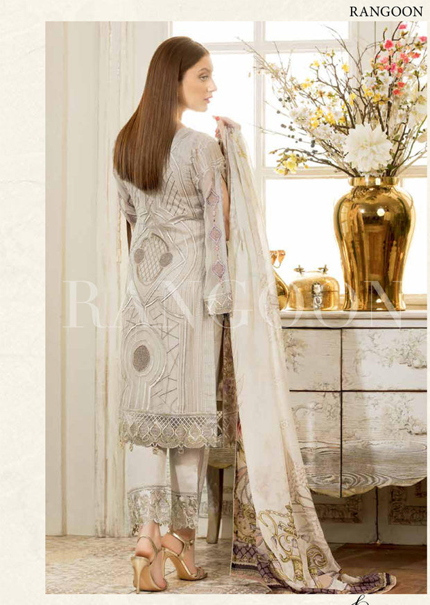 D408- Ramsha Rangoon - Unstitched Chiffon Collection 2019 - Pakistani Designerwear - Memsaab Online