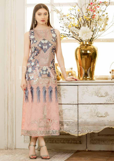 D410- Ramsha Rangoon - Unstitched Chiffon Collection 2019 - Pakistani Designerwear - Memsaab Online