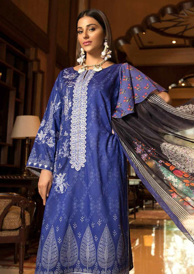 Abiha's by Eshaisha Linen - Viscose - Jacquard Embroidered Collection 2019 - Memsaab Online
