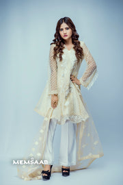 D5 - Veriti - Cream - Eternal by Memsaab - Ready to Wear Pakistani Designer Suit with handwork - Memsaab Online