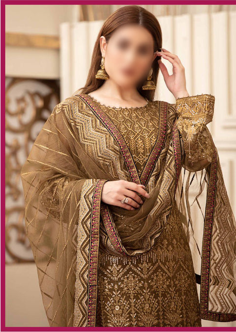 D-8826 Unstitched Tawakkal Beyond Luxury Chiffon Collection 2020 - Memsaab Online