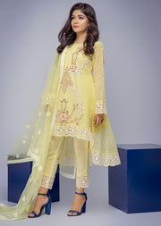D8 - Damini - Yellow - Eternal by Memsaab - Ready to Wear Pakistani Designer Suit with handwork - Memsaab Online