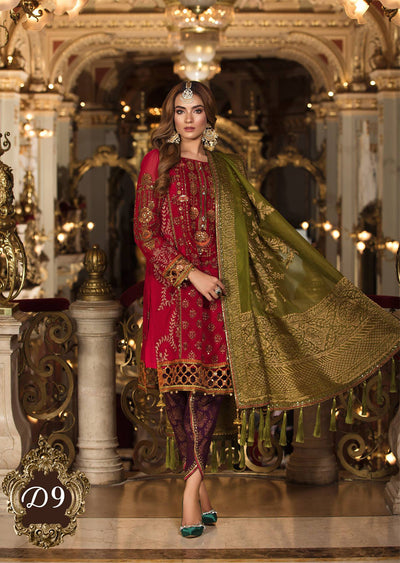 D9 Maria B Mbroidered Wedding Collection 18