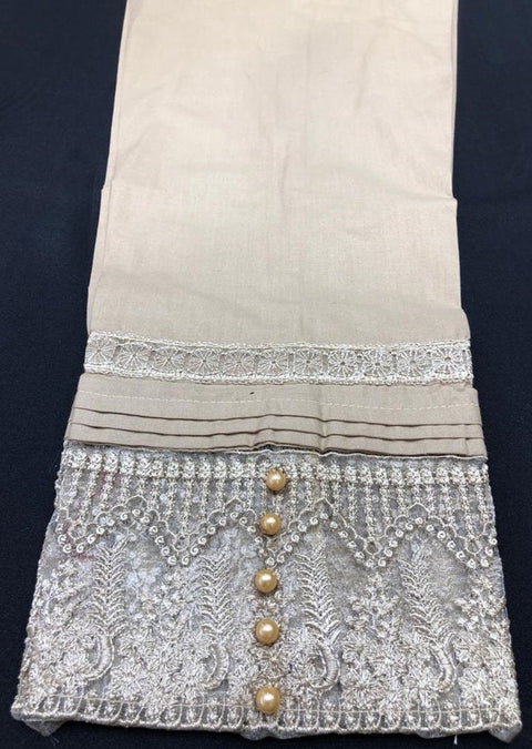 DXT04 Gold Embroidered Trouser - Memsaab Online