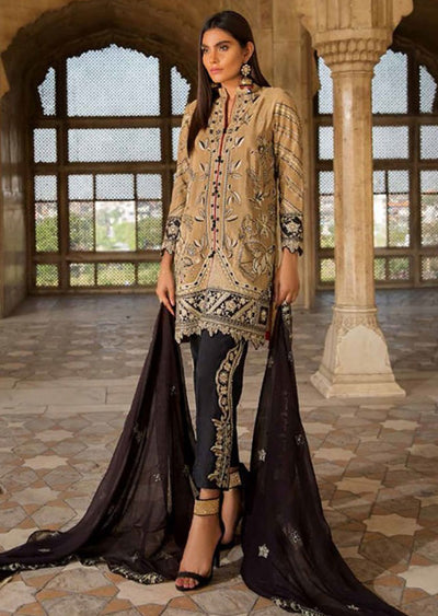 EA-115 Unstitched - Eshaisha Winter Embroidered Collection 2019 - Pakistani Designer Clothes - Memsaab Online