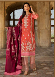 EA-117 Unstitched - Eshaisha Winter Embroidered Collection 2019 - Pakistani Designer Clothes - Memsaab Online