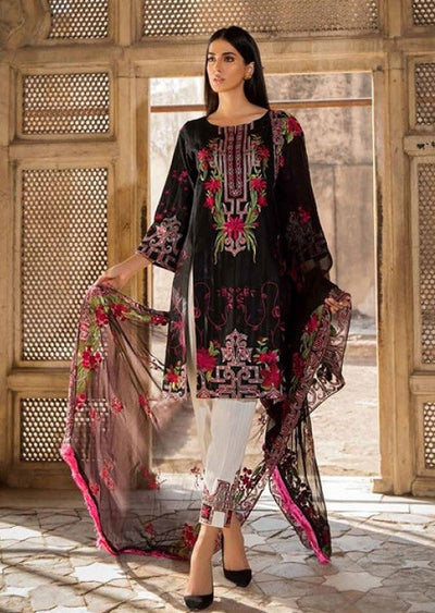 EA-118 Unstitched - Eshaisha Winter Embroidered Collection 2019 - Pakistani Designer Clothes - Memsaab Online